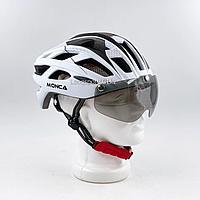 Велосипедный шлем (велошлем) с очками (2182)