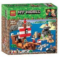 """Конструктор Bela Minecraft 11170 """"Приключения на пиратском корабле"""" (Аналог LEGO 21152)"""