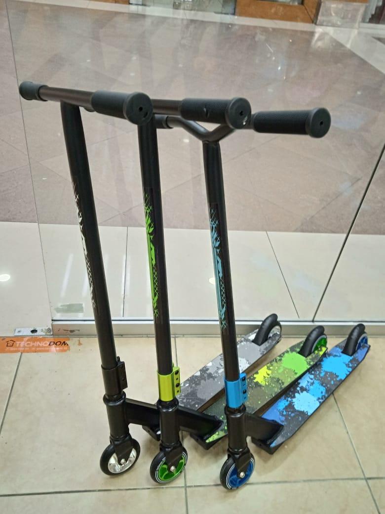 Трюковый самокат Scooter 360 градусов с алюминиевыми дисками.