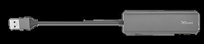 USB HUB Trust Halyx Aluminium 4-port USB 3.2, черный