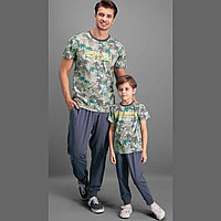 Пижама детская мальчиковая 5 / 110 см, Серый