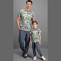 Пижама детская мальчиковая 7 / 122 см, Серый