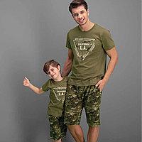 Пижама детская мальчиков 4 / 104 см, Хаки