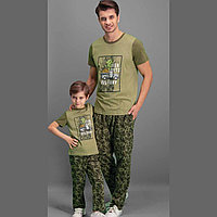 Пижама детская мальчиковая 4 / 104 см, Хаки