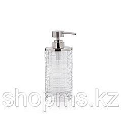 ATHENA Дозатор для жидкого мыла. Стекло и металл. Диаметр- 8 см, высота- 19 см. D-20700