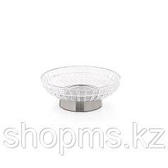 ATHENA Мыльница круглая. Стекло и металл. Размеры: 12 * 4см. D-20701