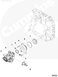 Топливный насос ТНВД Cummins ISF3.8 5303387