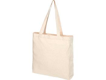 Эко-сумка Pheebs с клинчиком, изготовленая из переработанного хлопка, плотность 210 г/м2, natural