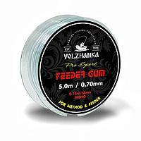 Фидерная резина Volzhanka Feeder Gum (fg-0.7=0.7мм/5м цв. прозрачный)