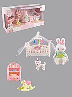 Dreamy: Игровой набор Детская комната, зайка, игрушечная мебель, аксессуары