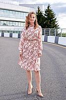Женская осенняя шифоновая большого размера платье и ремень Lyushe 2694 44р.