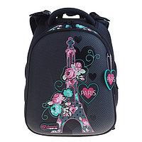 Рюкзак каркасный Hummingbird T 39 х 28 х 20 см, для девочки, 'Париж', серый