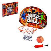 Баскетбольный набор 'Штрафной бросок', с мячом, диаметр мяча 12 см, диаметр кольца 23 см.
