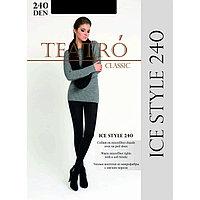 Колготки женские из микрофибры с ворсом Ice Style 240 цвет чёрный (nero), р-р 2