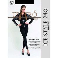 Легинсы женские из микрофибры с ворсом Ice Style leggings 240 цвет чёрный (nero), размер 4