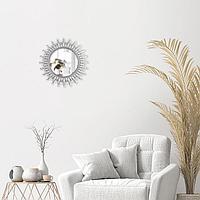 Зеркало настенное 'Яро', d зеркальной поверхности 17,1 см, цвет серебристый