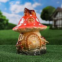 """Садовая фигура """"Сказочный гриб"""", глазурь, цветной 34 см"""