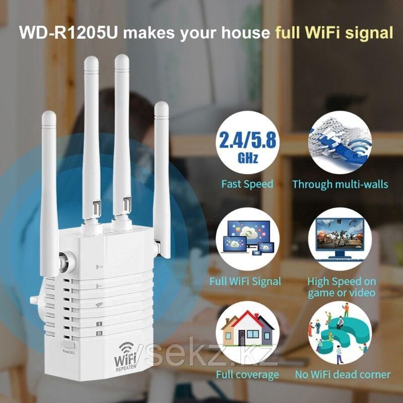 1200 Мбит/с Wi-Fi ретранслятор 2,4 ГГц 5,8 ГГц Wi-Fi расширитель диапазона  УСИЛИТЕЛЬ WI-FI REPEATER/ROUTER/A
