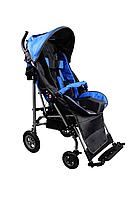 Детская инвалидная кресло-коляска ДЦП UMBRELLA, размер 3, комнатная синий