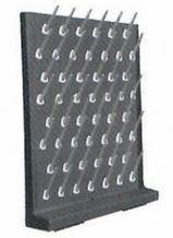 Стеллаж для сушки лабораторной посуды полипропиленовый, на 52 гнезда, серый,  550х120х700 мм