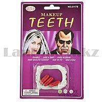 Накладные зубы, клыки вампира с кровью