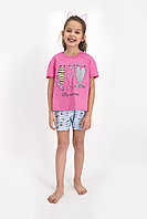 Пижама детская девичья 4-5/104-110 см, Розовый