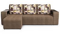 """Угловой диван-кровать """"Версаль"""" Сноу браун, Савана латте"""