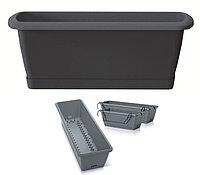 Ящик балконный RESPANA EASY CARE с системой полива, поддоном и крючками антрацид 60см