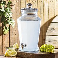 Кувшин для напитков стеклянная с краником 7,5 л