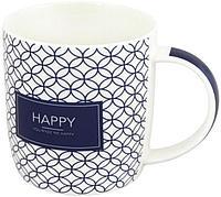 Чашка фарфоровая Happy, Smile, Love, Dream 365 мл LIL8913