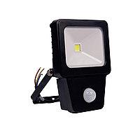 Светодиодный прожектор COB SENSOR 10W BLACK 6000K