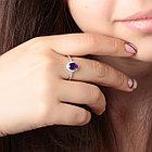 Кольцо из серебра с натуральным аметистом и фианитом, фото 3