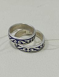 Обручальные кольца / синяя эмаль / размеры с 16 - 22