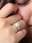 Кольцо из серебра с натуральным жемчугом и фианитом, фото 3