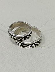 Обручальные кольца / черная эмаль / размеры с 16 - 22