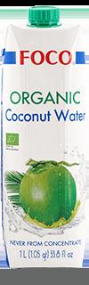 FOCO Вода кокосовая ORGANIC  ,1 л