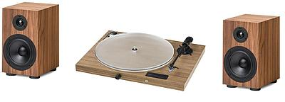 Проигрыватель виниловых пластинок Pro-Ject Juke Box S2 + Акустическая система Speaker Box 5S2,Walnut