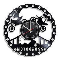 Настенные часы Motocross Мотокросс, подарок фанатам, любителям, 2222