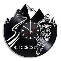 Настенные часы Motocross Мотокросс, подарок фанатам, любителям, 2223