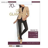 Колготки женские GLAMOUR Velour 70 цвет черный (nero), р-р 3