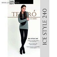 Колготки женские из микрофибры с ворсом Ice Style 240 цвет чёрный (nero), р-р 5