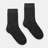Носки мужские тёплые GRAND LINE, цвет тёмно-серый, размер 27