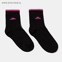 Носки женские махровые QUARTET, цвет чёрный, размер 23-25