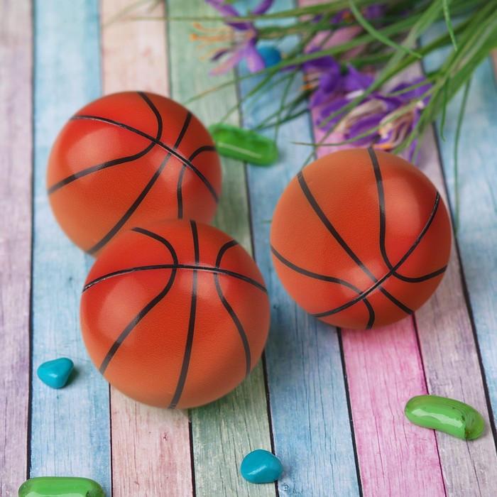 Мяч «Баскетбол», мягкий, 6,3 см