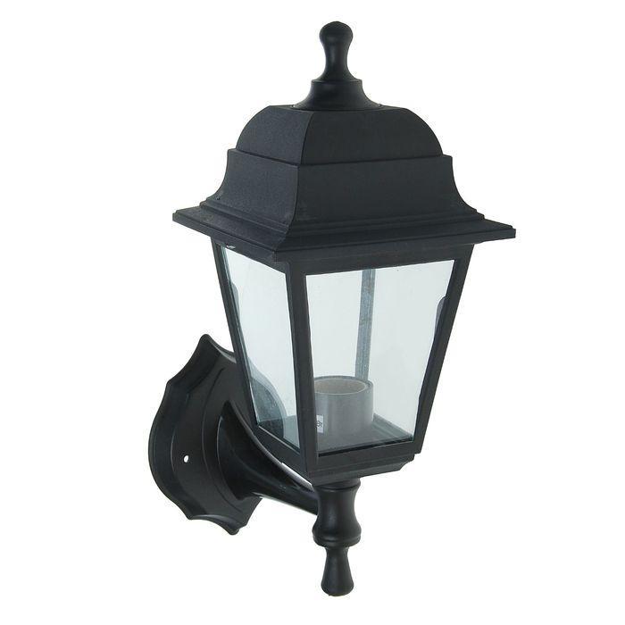 Светильник садово-парковый TDM, E27, 60 Вт, четырёхгранный, настенный, чёрный
