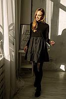 Женское осеннее трикотажное черное нарядное платье PUR PUR 880 42р.