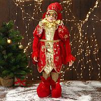 Новогодний шут 'В красном костюме с узорами' 32х65 см