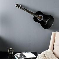 Сувенирная гитара для интерьера, чёрная
