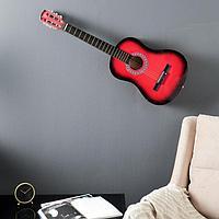Сувенирная гитара для интерьера, красная