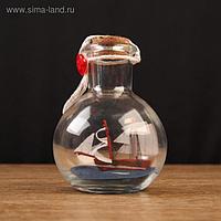"""Корабль сувенирный """"Всеслав"""", в бутылке, вертикальн. 9*7см"""